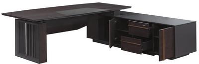 主桌寬215深90高76 側櫃寬190深60高60 總寬233深90高76