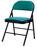皮面合椅  綠皮H腳