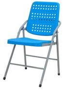 白宮塑鋼合椅  藍/烤漆腳
