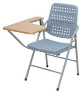 白宮塑鋼課桌椅 木紋面/烤漆腳