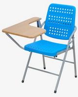 白宮藍色塑鋼課桌椅 木紋面/烤漆腳