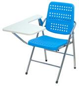 白宮藍色塑鋼課桌椅 塑膠面/電鍍腳