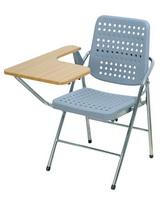 白宮塑鋼課桌椅 木紋面/電鍍腳
