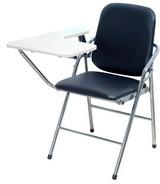 白宮皮面課桌椅 塑膠面/電鍍腳