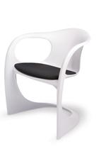 造型椅 白椅黑墊