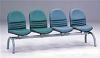 新黛烤漆四人排椅