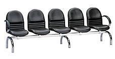 新黛電鍍有扶手五人排椅