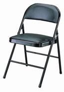 皮面合椅 ㄇ腳 黑色皮
