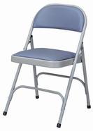 皮面合椅 ㄇ腳 灰色皮