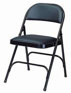 皮面合椅 H腳 黑色皮
