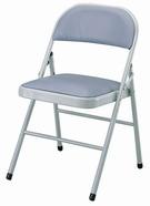 皮面合椅 H腳 灰色皮
