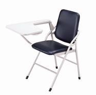 白宮皮面課桌椅 黑皮/烤漆