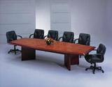 貴族型會議桌(船型花樟木紋)