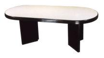 橢圓會議桌 美耐板面 碎石紋
