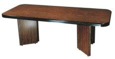 方形會議桌 大圓角 美耐板