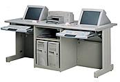 雙人下潛式電腦桌