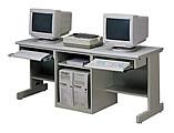雙人直立式電腦桌