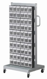 單面活動車+置物盒(60抽)