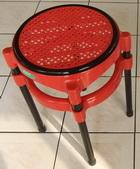 圓面籐椅-紅面
