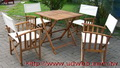 休閒餐桌組 方形桃花心木折合式